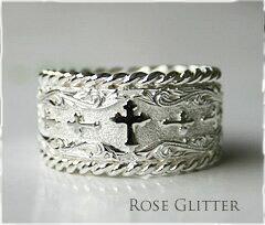 在庫限りハワイアンジュエリー リング Luxy ホワイトシルバー ゴシッククロス メンズ リング 男女兼用 指輪