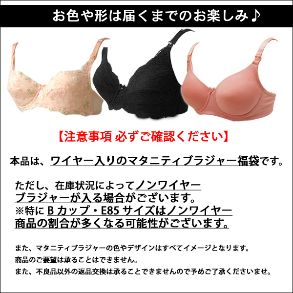Crush 1,000 yen happybag bag set breast-feeding and for Bras two fun bags Maternity Brassiere