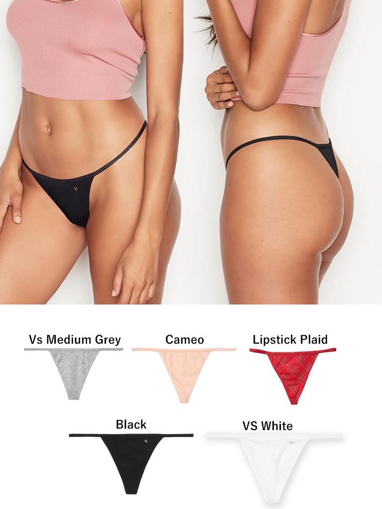 VICTORIA'S SECRET ヴィクトリアシークレット 下着 Tバック パンツ パンティー V-string Stretch Panty 激安特価品 ストレッチコットンVストリングパンティー 11173458 人気ブランド Cotton