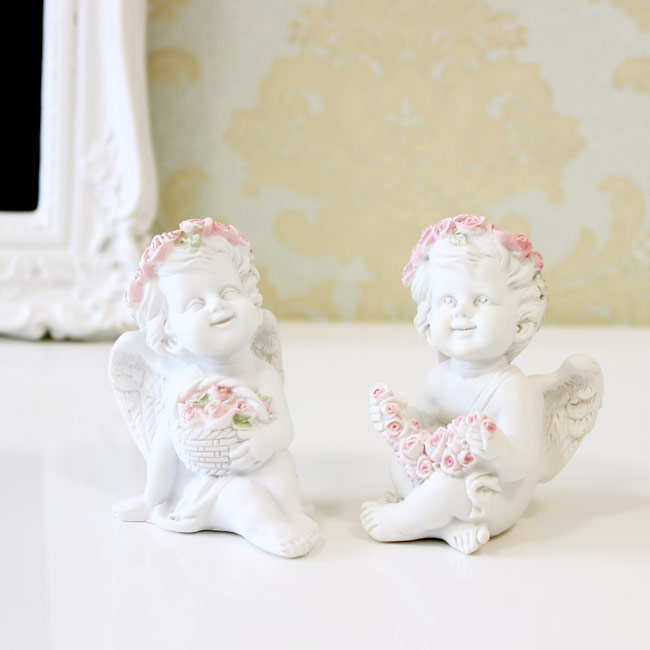 見ているだけで癒されるかわいい天使のオブジェ 玄関のインテリアに 天使 本物 メーカー公式ショップ 置物 ローズエンゼルオブジェ エンジェル{ おしゃれ 飾り 薔薇雑貨 インテリア かわいい コンパクト対応