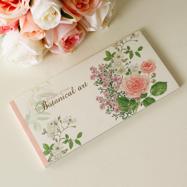 一筆箋 ローズブーケ 薔薇柄 メール便可 メモ帳 薔薇柄 花柄 おしゃれ かわいい ノート