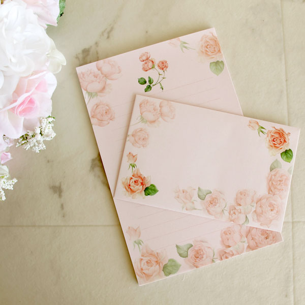 photograph regarding Printable Stationeries titled Stylish red Rose letterset / rose, stationery /LST-222 letter paper, envelope, stationery, memo pad, rose habit, floral design and style