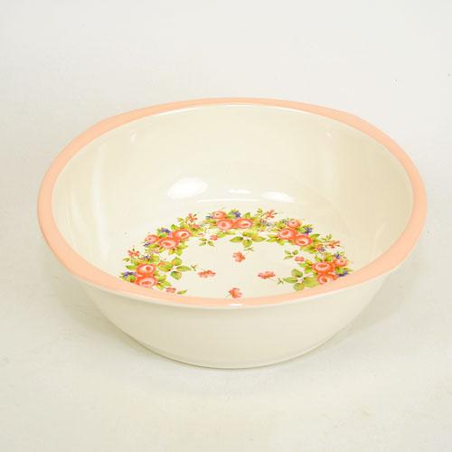 ピンク エレガント バラ フラワー キッチン 雑貨 キッチンボウル ロザナ ボール おしゃれ 桶 ウォッシュタブ かわいい 薔薇 ギフト 期間限定送料無料 35%OFF 花柄 洗い桶