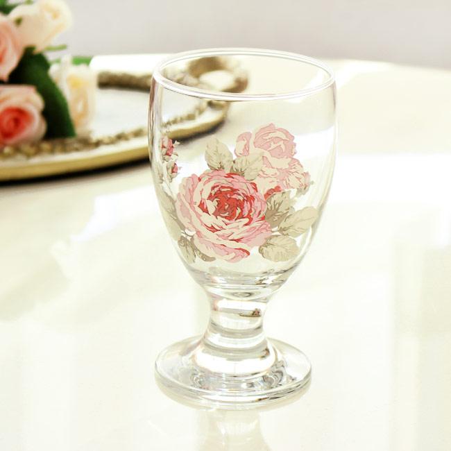 素敵な薔薇柄のジュースグラス 10%OFF ジュースグラス ルーシー タンブラー日本製 薔薇雑貨 ワイングラス おしゃれ 食器 かわいい エレガント 評判 花柄