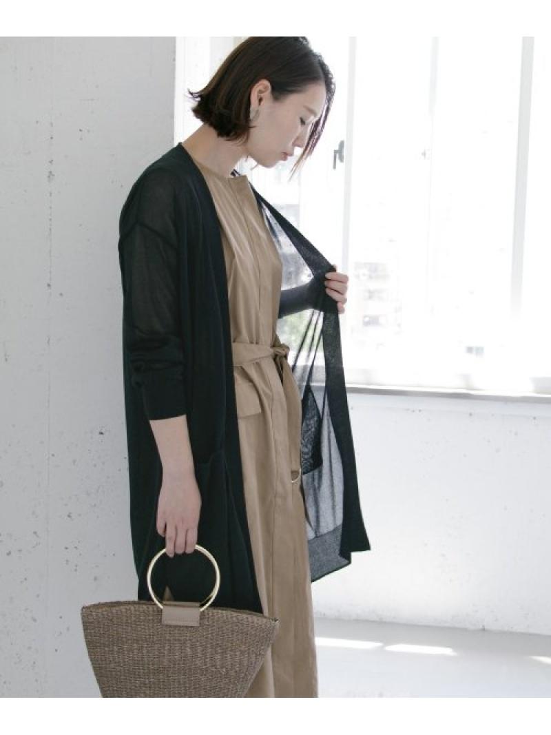 [Rakuten Fashion]【5/26新入荷】ドライタッチロングカーディガン ROSSO アーバンリサーチロッソ ニット カーディガン ブラック ブラウン【送料無料】