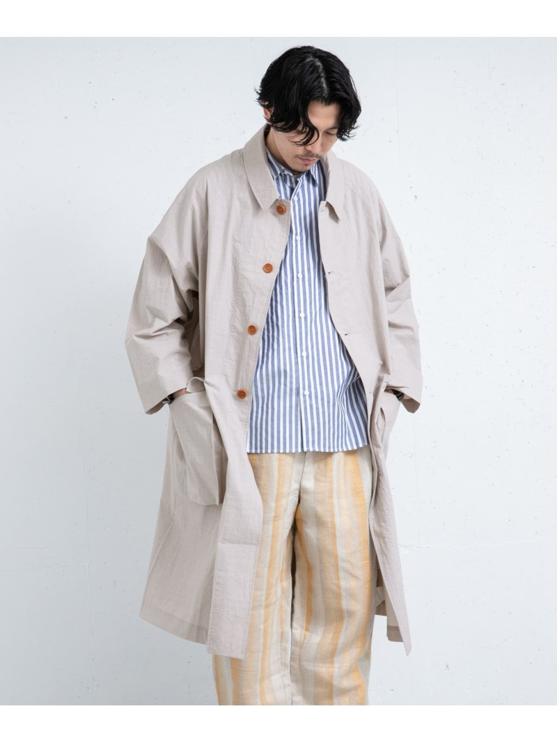 [Rakuten Fashion]FrankLederTCG1 ROSSO アーバンリサーチロッソ コート/ジャケット ステンカラーコート グレー【送料無料】
