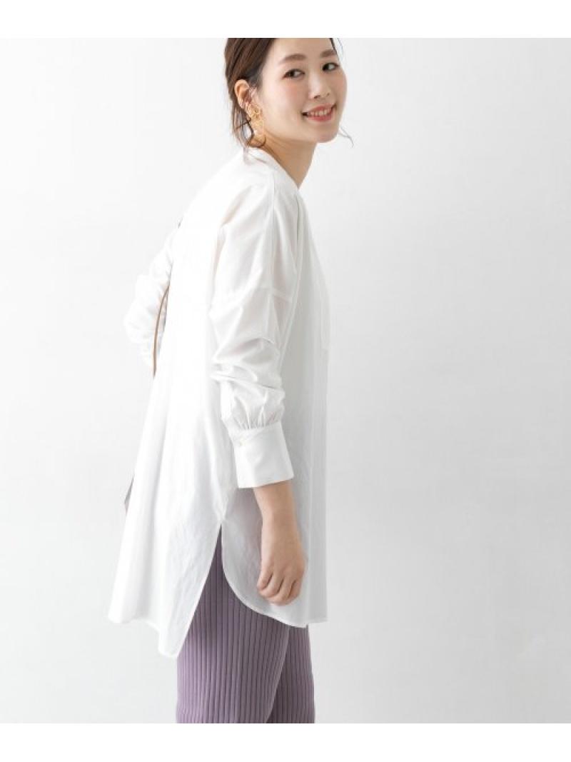 [Rakuten Fashion]チュニックシャツ ROSSO アーバンリサーチロッソ シャツ/ブラウス シャツ/ブラウスその他 ホワイト ブラック【送料無料】