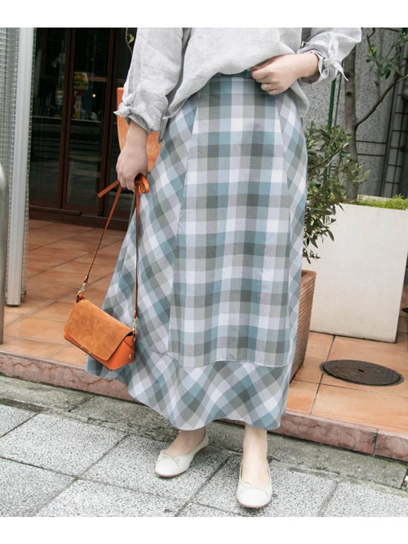 [Rakuten BRAND AVENUE]カラーブロックマキシスカート ROSSO アーバンリサーチロッソ スカート【送料無料】