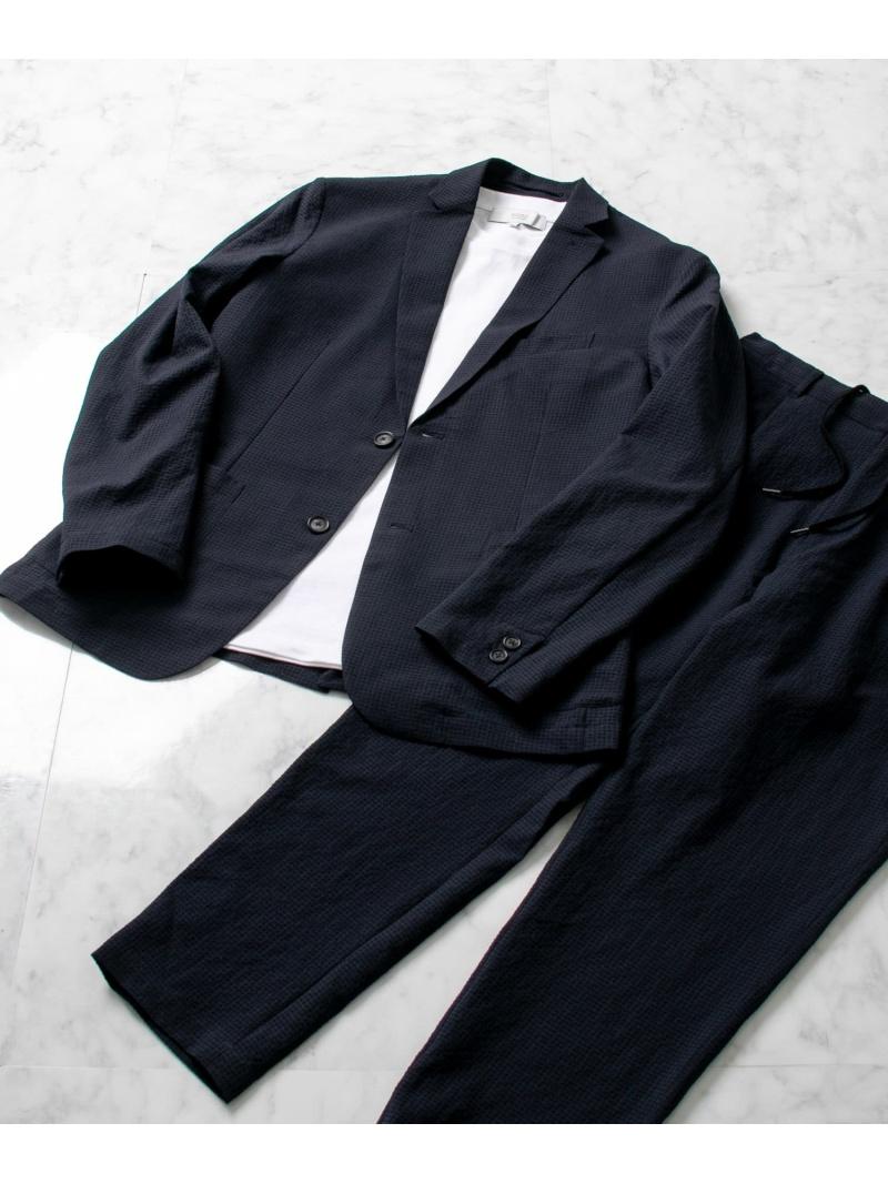 [Rakuten Fashion]【SALE/20%OFF】シアサッカーテーラードジャケット ROSSO アーバンリサーチロッソ コート/ジャケット テーラードジャケット ネイビー ブラック【RBA_E】【送料無料】
