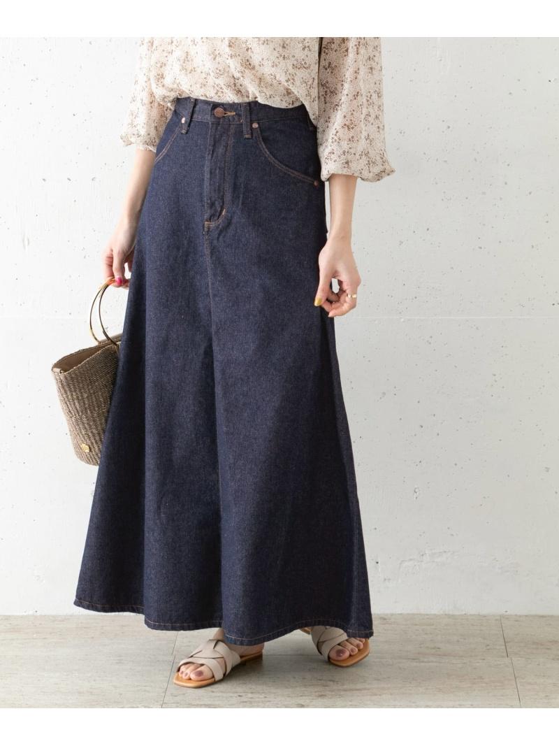 Rakuten Fashion別注 Wrangler DENIM FLARE SKIRT ROSSO アーバンリサーチロッソ スカート スカートその他 送料無料WE29eDHIY