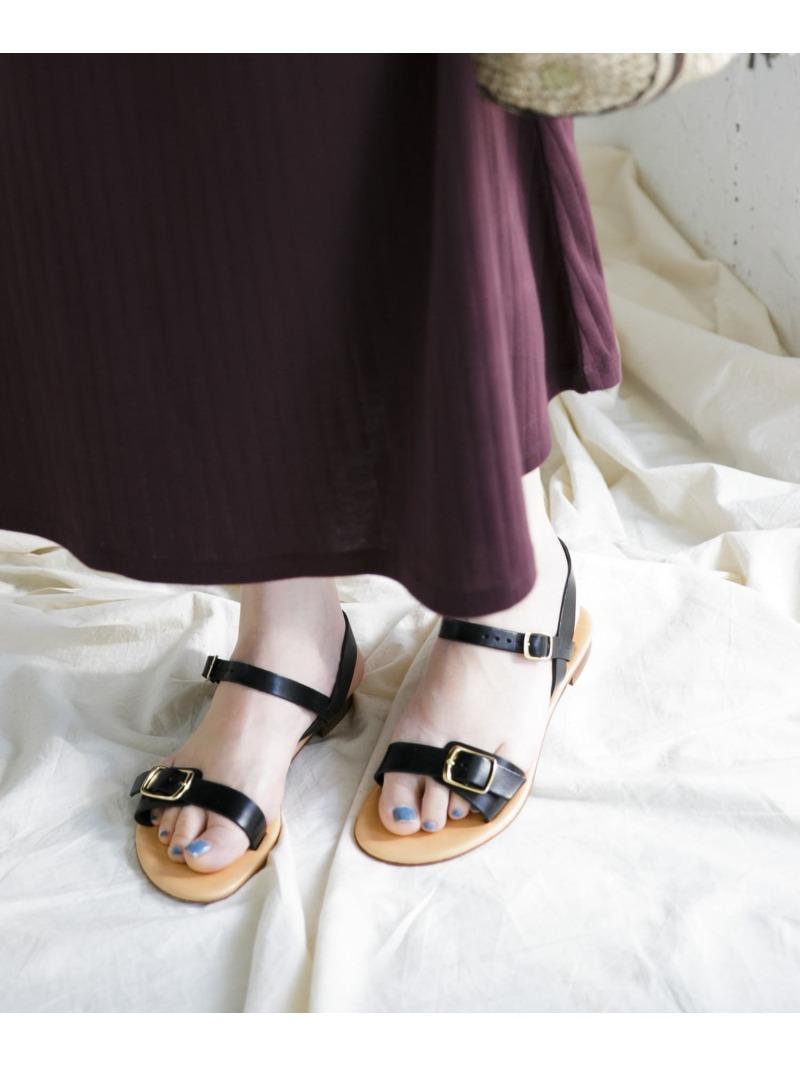 [Rakuten Fashion]ENESSアンクルストラップフラットサンダル ROSSO アーバンリサーチロッソ シューズ サンダル/ミュール ブラック ブラウン【送料無料】