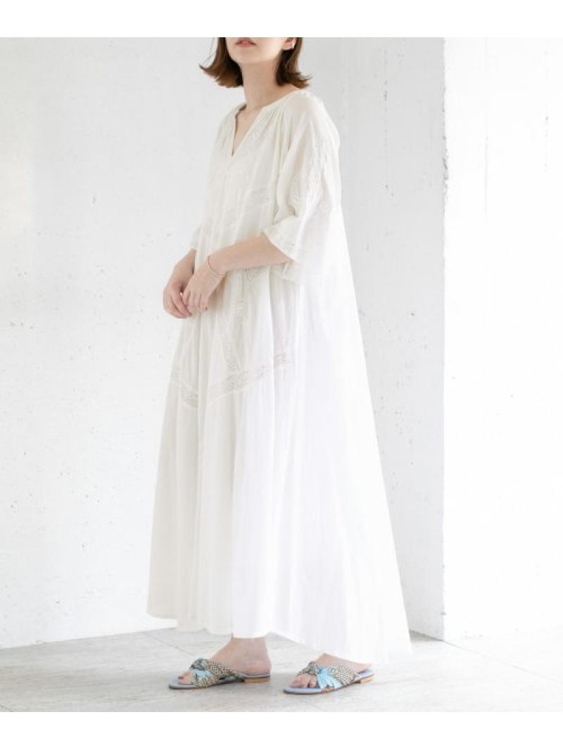 [Rakuten Fashion]saramallikaDRESS ROSSO アーバンリサーチロッソ ワンピース ワンピースその他 ホワイト グレー【送料無料】