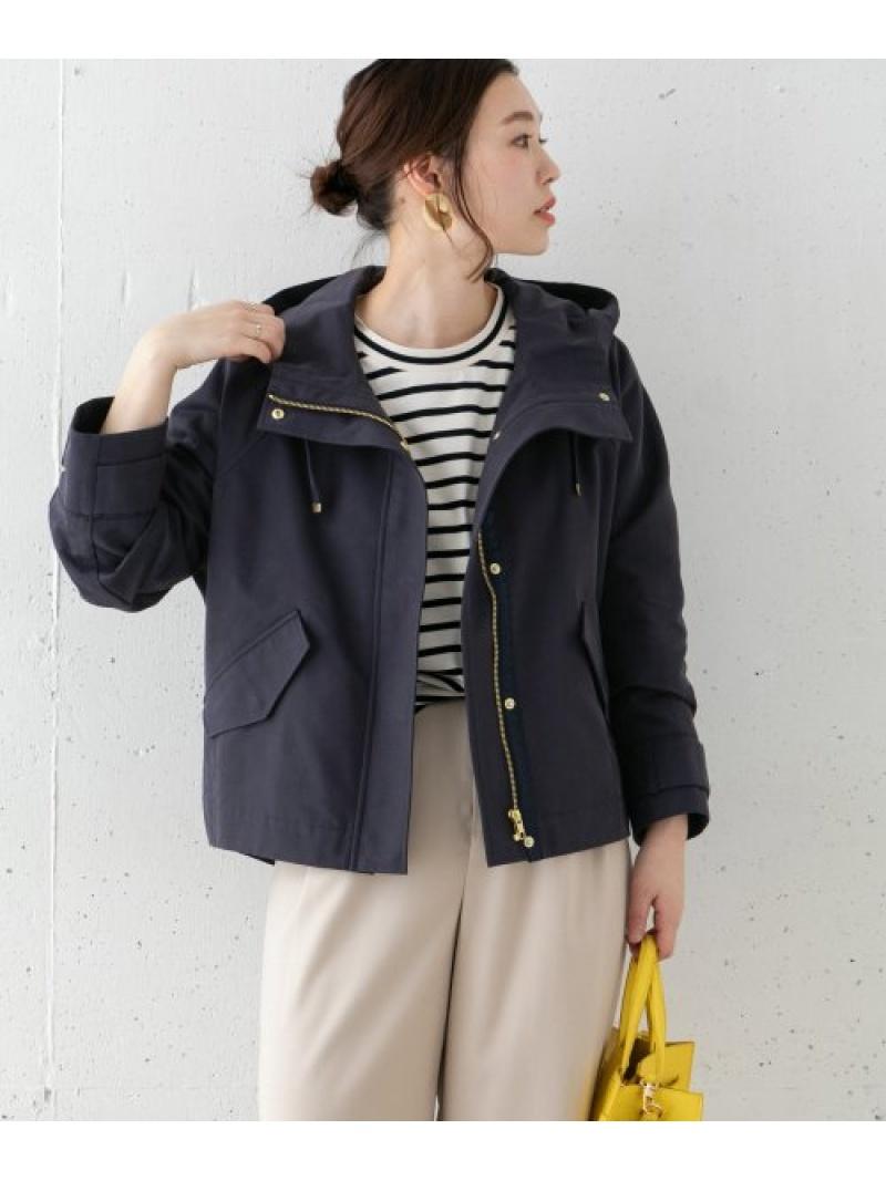 [Rakuten Fashion]オーバーフードブルゾン ROSSO アーバンリサーチロッソ コート/ジャケット ブルゾン ネイビー ベージュ【送料無料】