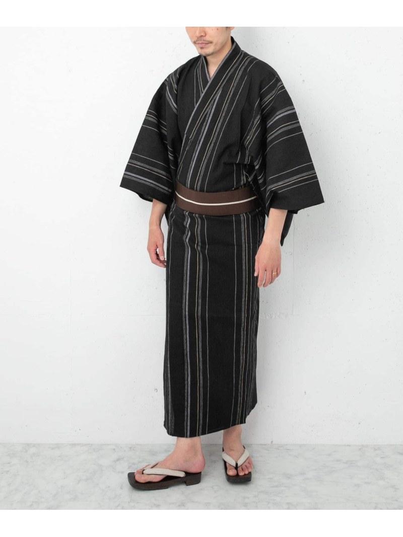 URBAN RESEARCH ROSSO メンズ ビジネス フォーマル アーバンリサーチロッソ 紳士ゆかた ブラック 綿麻ちぢみ 選択 送料無料 Rakuten 祝日 浴衣 着物 Fashion