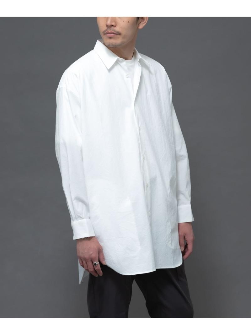 [Rakuten Fashion]丸井織物ロングシャツ ROSSO アーバンリサーチロッソ シャツ/ブラウス シャツ/ブラウスその他 ホワイト ネイビー グレー【送料無料】