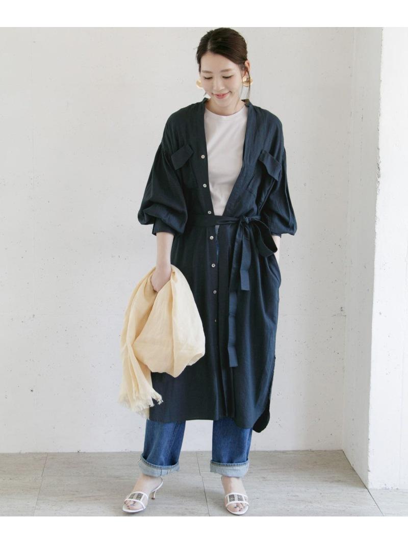 [Rakuten Fashion]【5/22新入荷】リネンワンピース ROSSO アーバンリサーチロッソ ワンピース ワンピースその他 ネイビー ホワイト【送料無料】