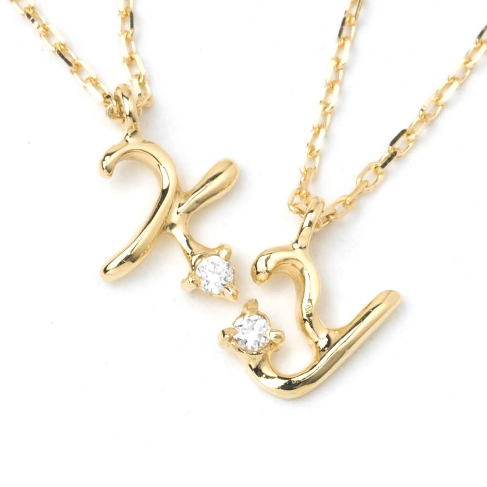 イニシャル ネックレス レディース K18 18金 18k ネックレス イエローゴールド ダイヤモンド イニシャルネックレス チェーン 小さい 華奢 アクセサリー アルファベット プレゼント ペンダント 日本製 女性 プレゼント 彼女 母の日