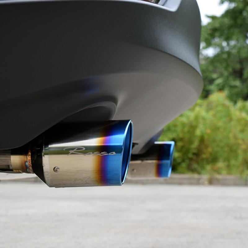 マフラーカッター ハリアー RAV4 カスタム 【MARVELOUS T2 チタンカッター】新型ハリアー MXUA80 MXUA85 新型RAV4 MXAA52 MXAA54 マフラーカッター マフラーフィニッシャー