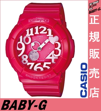 It is the ★ Casio Baby-G pink BGA-130-4BJF casio Baby-G Lady's Casio watch Lady's casio watch Baby-G pink neon dial watch neon dial series for Quo card 2,000 yen in the ★ review during the Autumn sale