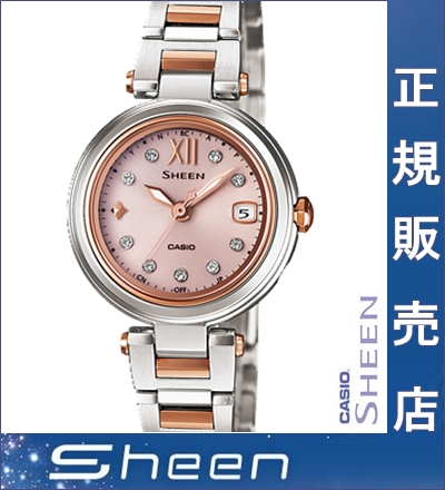 It is ★ Casio SHEEN Mika Nakajima SHW-1504SG-4AJF casio SHEEN watch Casio Mika Nakajima pink lady Casio watch Lady's watch Swarovski Casio scene Mika Nakajima for Quo card 5,000 yen in the ★ review during the Autumn sale