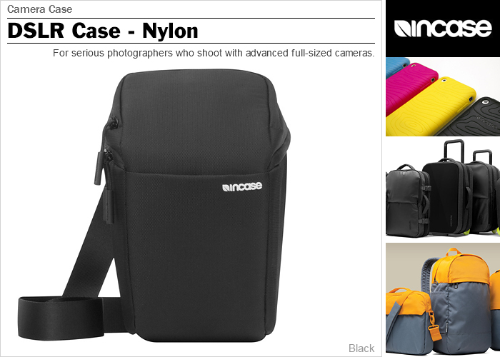 It is ★ CL58065 in case camera case INCASE DSLR Case Nylon Black single-lens reflex camera bag fashion bag lens case shoulder bag digital camera case camera porch for Quo card 500 yen in a review