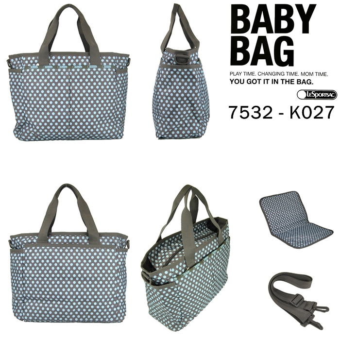 Lesportsac Ryan Baby Bag Aqua Dot アクアドット 7532 K027 Skydot Mothers 4955 Mathew Bug