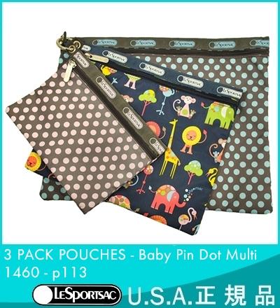 [美國真正] LeSportsac 和 lesportsac 3 包袋 [3 包袋,嬰兒針點多 babypin 點多 1460 P113 袋包袋點小指點 lesportsac 防盜門化妝品袋折扣 P136 011