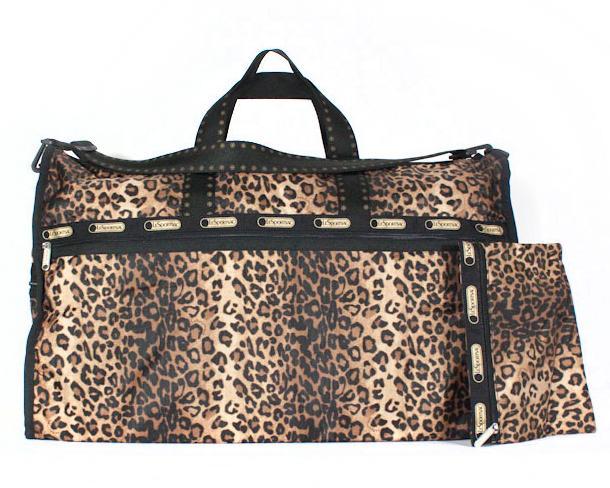 Lesportsac エクストララージウィークエンダー Extra Large Weekender 7286 D178 Cheetah Cat チーターキャット Boston Bag Leopard Pattern Hail
