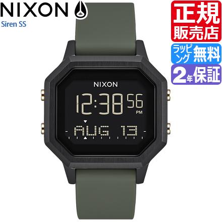 ニクソン 腕時計 送料無料 [正規3年保証] A1211178 ニクソン サイレンSS レディース NIXON 時計 SIREN SS BLACK/FATIGUE ニクソン 時計 女性 プレゼント ギフト