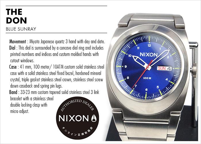 NIXON WATCH NA3581258-00 DON II BLUE SUNRAY