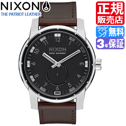 ニクソン 腕時計 送料無料 [正規3年保証] NA938000 ニクソン パトリオット レザー メンズ 時計 PATRIOT LEATHER BLACK