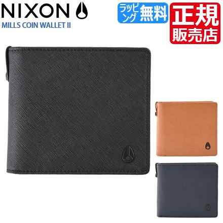 送料無料 [正規販売店] ニクソン 財布 メンズ 二つ折り メンズ ニクソン 二つ折り 財布 MILLS COIN メンズ財布 NIXON 財布 nixon 財布 革 メンズ ブランド 財布 プレゼント