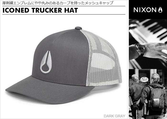 79a329752 Nixon cap [regular store] NC1862134 Nixon hat NIXON ICONED TRUCKER HAT men  cap Lady's cap snapback