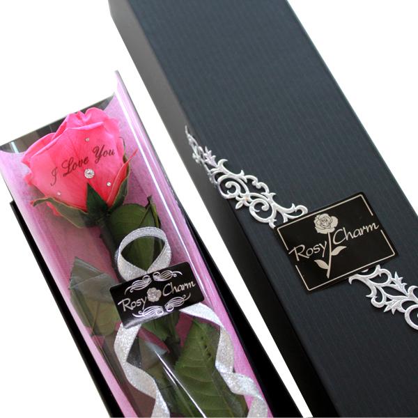 日本メーカー新品 バラの贈り物誕生日プレゼント プロポーズ 結婚記念日に1輪のバラ花びらにメッセージを入れて想いを伝える薔薇のプリザーブドフラワー ギフト 1本 上品 花束 メッセージローズ プリザーブドフラワー 贈り物 記念日 1輪 誕生日プレゼント 薔薇1本 ホットピンク メッセージ入り バラ