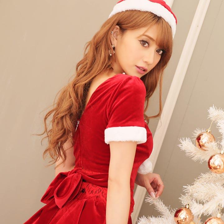 799cecc35812c  あす楽 クリスマスリボンミニサンタコスチュームサンタコスコスプレX masサンタクロースレディースドレス