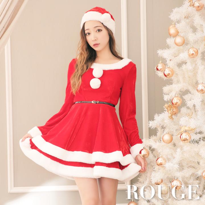 8359e1a1a78d8 サンタコス ·  あす楽 フレアクリスマスサンタコスチュームサンタコスコスプレX masサンタクロースレディースドレス