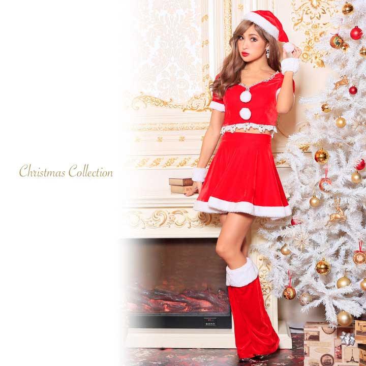 9b3982ca224e7  あす楽 X masクリスマスフレアピンクサンタコスチュームサンタコスコスプレサンタクロースレディース