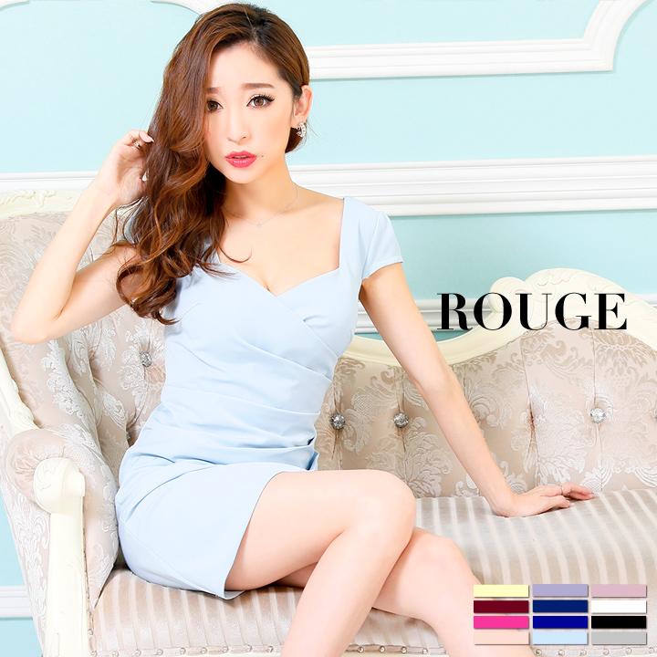 14d915e71823b ROUGE Dress (キャバ ドレス ナイトドレス) キャバクラ キャバ嬢 キャバドレス パーティードレス専門