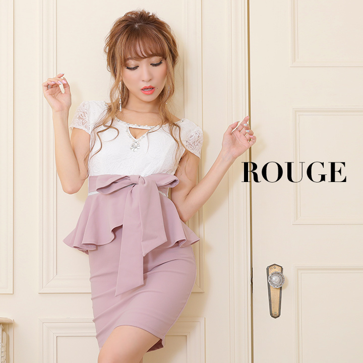 fcf5e120b4245 キャバドレス ドレス S M L XL ルージュ キャバドレス ドレス ミニ 大きいサイズ s m l xl フリーサイズ 半袖