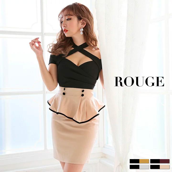 951d79a28ae03 キャバドレス ドレス S M L XL ルージュミニドレス キャバドレス ドレス 大きいサイズ s m l ミニ タイト