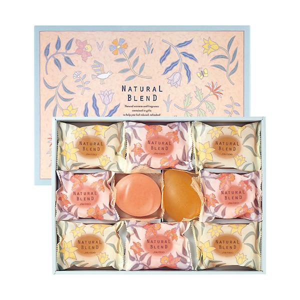 胭脂和设置的推荐的礼品 ~ 资生堂肥皂肥皂自然混合设置与 10P11Jan14 花的力量 (十)