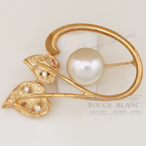 タサキ Tasaki ブローチ パール 公式通販 真珠 ダイヤモンド パール×ダイヤモンド USED Diamond 最新アイテム K18YG Brooch Pearl 中古