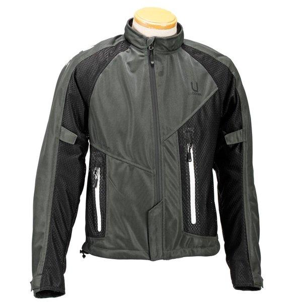 【在庫品】urbanism unj-022 mesh jacket アーバニズム アシンメトリーメッシュジャケット
