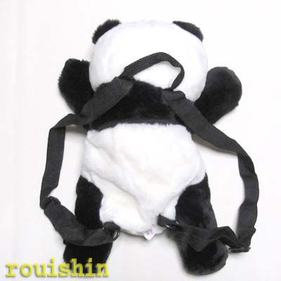 孩子们的书包、 背包毛绒熊猫毛绒背包 (cn) 02P01Oct16