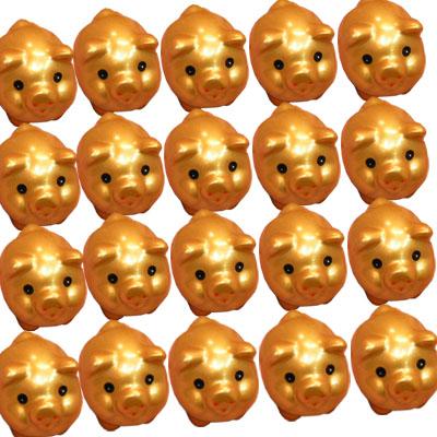 ミニミニ 金ぶたマスコット×20個セット(送料無料)  金豚,開運グッズ,中国,玩具,置物,置き物,運気アップ,プレゼント,お土産,ギフト,誕生日,お祝い,雑貨 ro1031