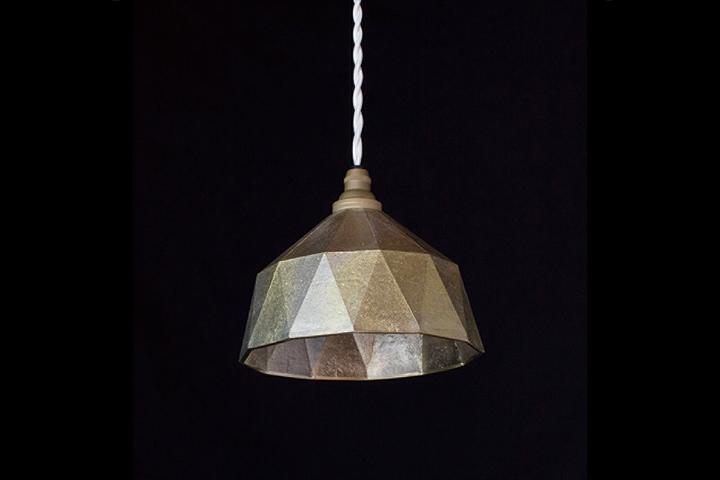 【送料無料】FUTAGAMI フタガミ ペンダントランプ 明星 小 鋳肌二上 日本老舗の真鍮鋳物照明 金属ランプシェード: