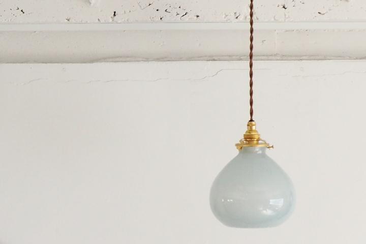 studio prepa Old Glass Pendant Lampスタジオプレパ ノスタルジックな気泡入りの吹きガラスのガラス照明 オールドグラス ペンダントランプ: