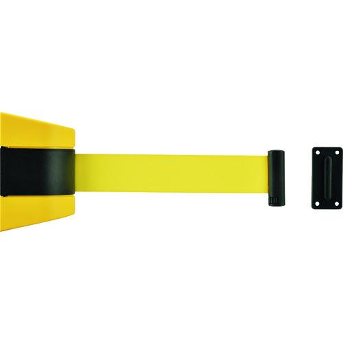 【332096】緑十字 ベルトパーテーション(壁面設置タイプ) ベルト黄/5m 受け金具付(1個)
