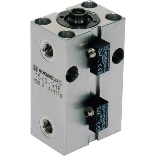 【1543513】ROEMHELD ブロック・シリンダー ストローク 20mm ピストン径25(1個)