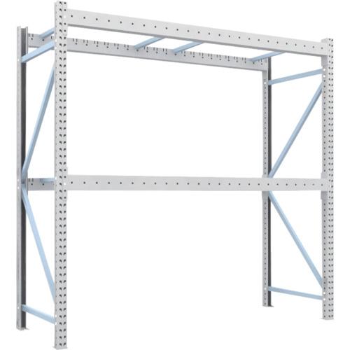 【1D25B25092】TRUSCO 重量パレット棚1トン2500×900×H2500単体 2段(1台)